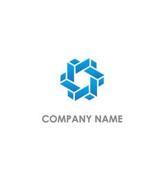 Prism geometry design logo vector