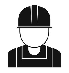 Reconstruction worker icon simple style vector