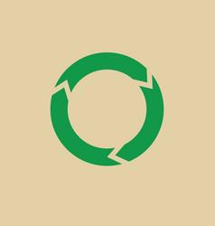 recycle symbol green arrows logo web icon vector image