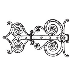 Renaissance hinge free ornament vintage engraving vector