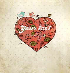 Rustic Valentines Day Card vector