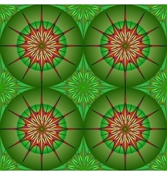 Seamless round pattern on green background vector