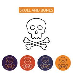 skull and bones icon vector image