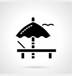 Sunbathing glyph style icon vector