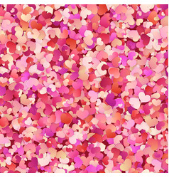 valentines day seamless pattern with red pink vector image
