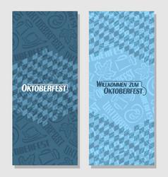 Vertical banners for oktoberfest vector