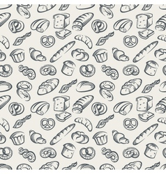 background with bread vector image vector image