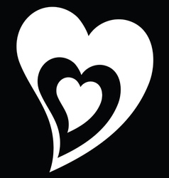 heart black and white vector image vector image