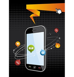 Smartphone application background vector image vector image