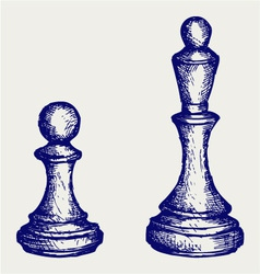 Chess figures vector image vector image