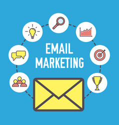 email marketing design flat banner concept with vector image