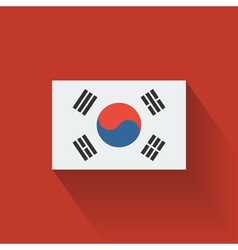 Flat flag of South Korea vector image