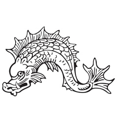 heraldic dolphin No5 vector image