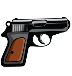 Personal Pistol Gun vector image