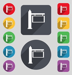 Information road sign icon sign a set of 12 vector