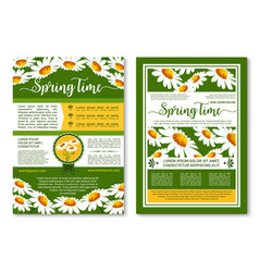spring flowers poster or brochure template vector image vector image