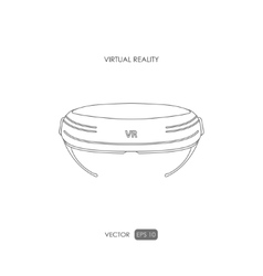 Virtual reality helmet on white background vector image vector image