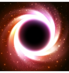 Black hole at the galactic center Space vector image vector image
