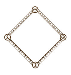 decorative frame geometric decoration abstract vector image