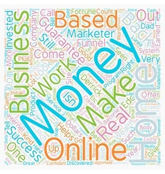 Make Money From Home In A Home Based Business That vector image