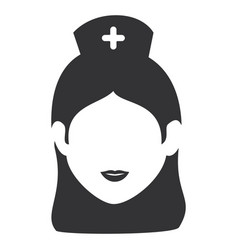 nurse beautiful avatar character vector image vector image