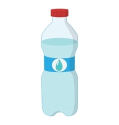Plastic bottle of water cartoon icon vector image