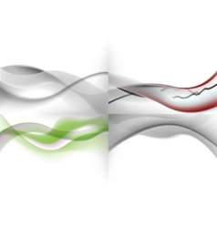 set of light abstract screensavers vector image vector image