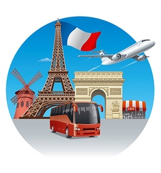 travel and tour in france vector image vector image