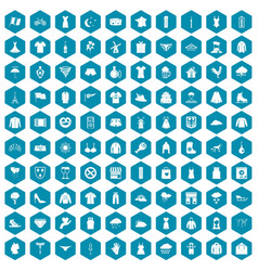 100 clothing icons sapphirine violet vector image