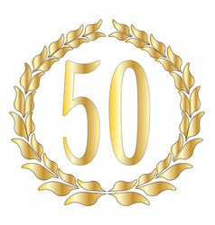 50th anniversary vector