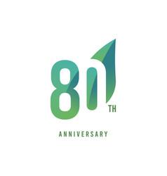 80 th anniversary logo template design vector