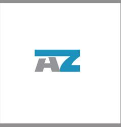 A z letter logo design on black color background vector