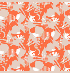 Abstract collage calm pattern seamless texture vector