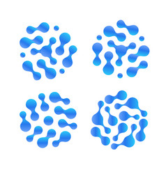 Abstract h2o liquid drop icon set purified vector