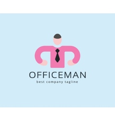 Abstract office man logo icon concept Logotype vector image
