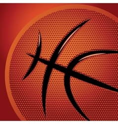 Abstract sports background with basketball texture vector image