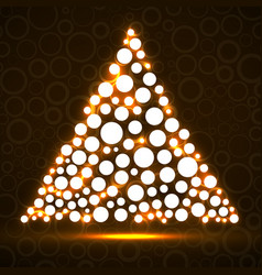 abstract triangle of glowing circles vector image