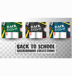 back to school background collections vector image