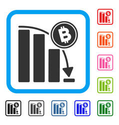 bitcoin epic fail chart framed icon vector image