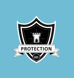 Black shield vector