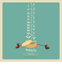 Blue Weddings invitation vector image