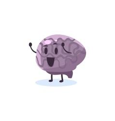 Brain Primitive Style Cartoon Character vector image
