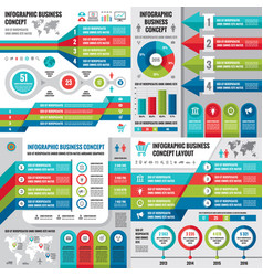 Business infographic templates concept vector