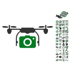 Camera Drone Icon With Bonus vector