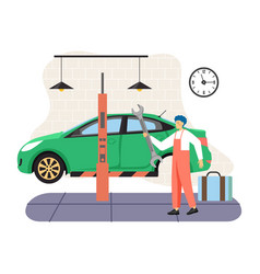 car service and tire maintenance change auto vector image
