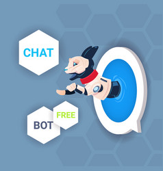 Chat bot free robot virtual assistance website vector