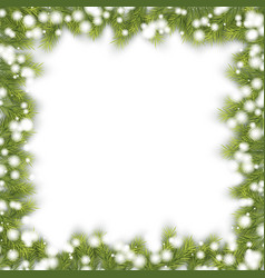 Christmas pine fir frame vector