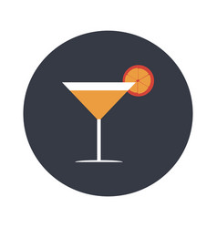 cocktail with a lemon flat vector image