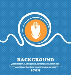 Corn icon sign Blue and white abstract background vector