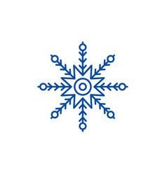 creative snowflake line icon concept creative vector image